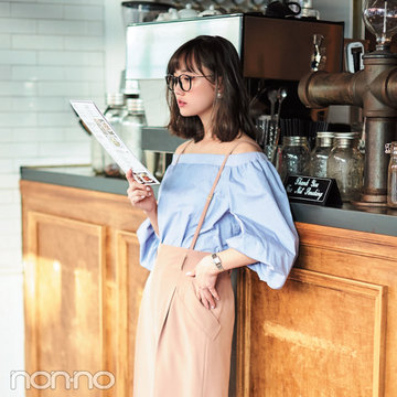 ノンノモデル鈴木友菜がナビ♡いつもの服を大人に見せる小物使い