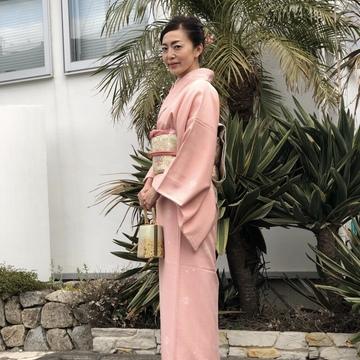桜色の着物を着て卒業式へ♪
