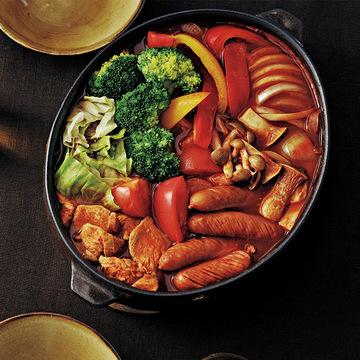 赤と白の色の違いも楽しい「トマト鍋」&「白だし鍋」【arikoさんおすすめの家族鍋】