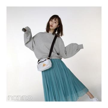 鈴木友菜のフェミニンなスウェットスタイル、真似したい!【毎日コーデ】