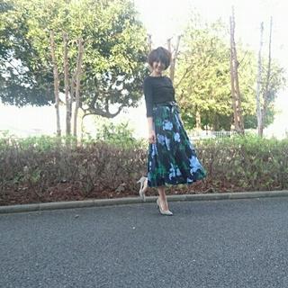 春は花柄スカートが穿きたい❤