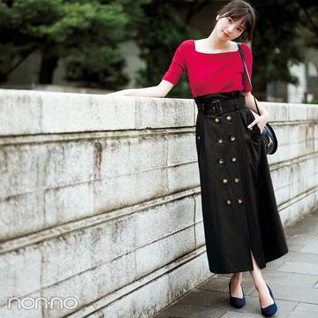 もう買った? 秋のトレンチ風スカート&コーデをチェック!