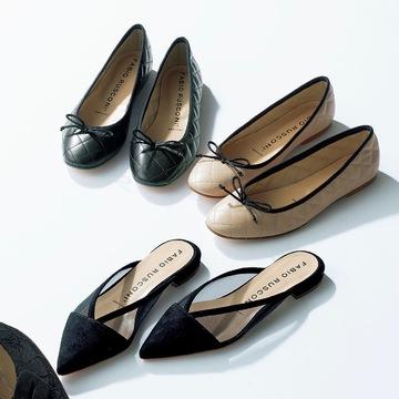 「FABIO RUSCONI」のきれいめフラット靴で足もとからスペシャル感を