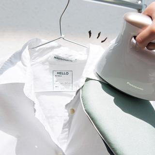 忙しくてもできる!コットンシャツを今どきスチーマーでお手入れ