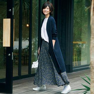 冬コーデを新鮮に変える!春まで着られるマキシ丈スカート&着やせワイドパンツ