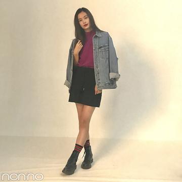 泉はるの最新コーデは秋色トップス+SLYの黒ミニ♡【モデルの私服】