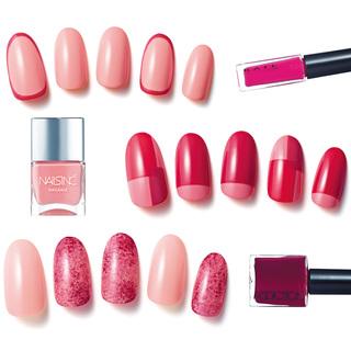 春色ピンクにベリー色で大人流!<大人のネイル見本帳>