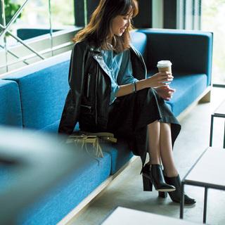■「ロングタイトスカート」×ライダース