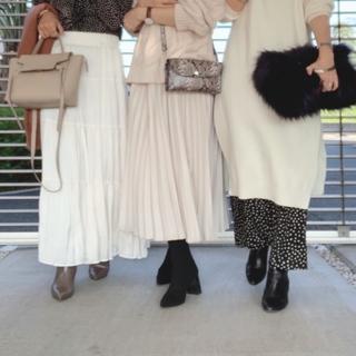 【冬の女子会コーデ】やっぱりみんな白が好き。