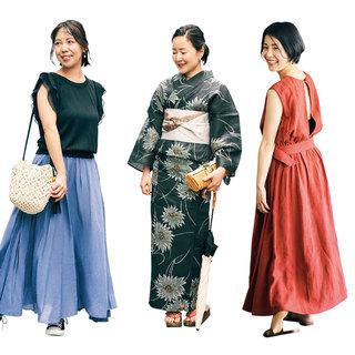 浴衣派orロングスカート派?アラフォーの花火大会ファッション【美女組ファッションSNAP】