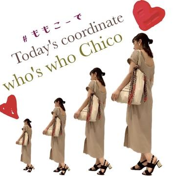 【今日のコーデ】who's who Chicoのお気に入りワンピ:)