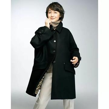 【2021年冬 50代向け最新コート】富岡佳子が着るマッキントッシュのドロップショルダーショートコートが大人気!