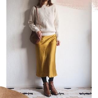 光沢スカートとざっくりニットでMarisolランチ会&2年目のご挨拶