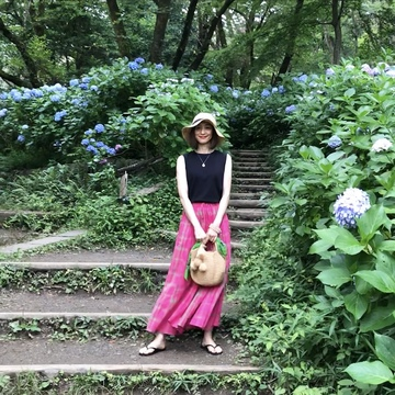 ピンクスカートで、岡本太郎美術館へ❤︎
