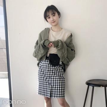 鈴木友菜はギンガムのミニスカをスポーツMIXに♡ 【毎日コーデ】