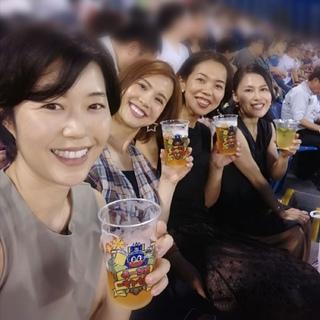 美女組メンバーと野球観戦!