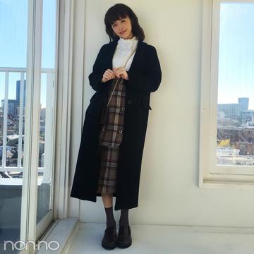 鈴木優華はMOUSSYのレースブラウス+最旬チェックスカート♡ 【モデルの私服スナップ】