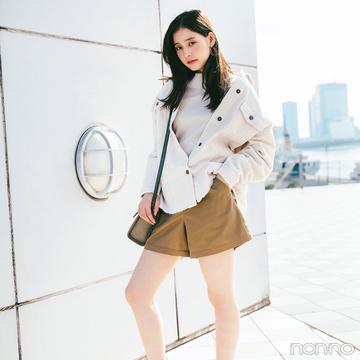 新木優子はブラウンのショーパン&ブーツでトレンドコーデ【毎日コーデ】