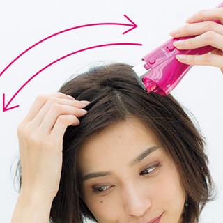 パックリ前髪のためのスタイリングテクニック