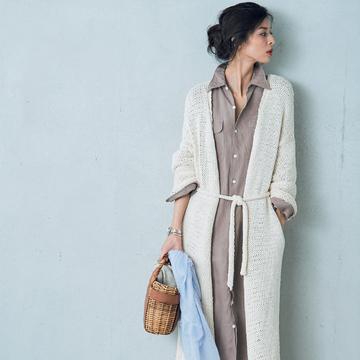 この季節、何はなくとも必要な優秀服は「白いロングカーディガン」 五選