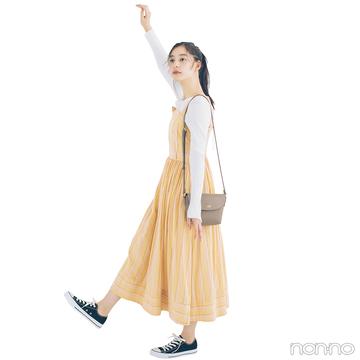 新木優子はイエローのビスチェ風ジャンスカで春を呼び込んで♡【毎日コーデ】