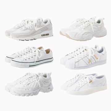 ONの日にはける! 白&ニュアンスカラーのスニーカーに注目。