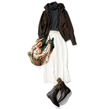 【Day25】雑貨めぐり散歩はドロストのゆるいパンツ+ブーツで!【冬の洗練パンツ30days】