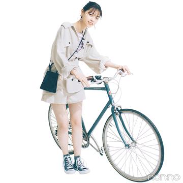 西野七瀬はベージュのセットアップで好感度抜群の春カジュアル♡【毎日コーデ】