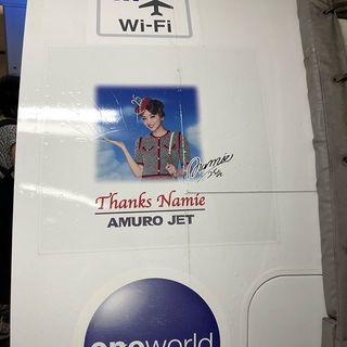 石垣島から那覇行きの飛行機が、まさかのAMURO JET♡