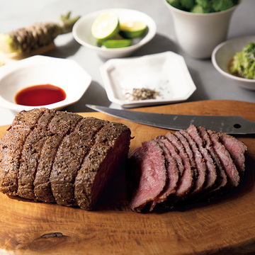 お取り寄せを活用! ローストビーフと薬味3種のレシピ【亜希さんの年末年始料理】