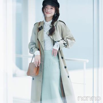 いつもの冬スタイルをぐんと女っぽく見せるツヤ感サテンスカート【毎日コーデ】