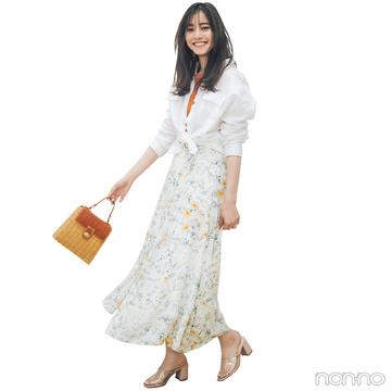 新木優子は白のワントーンでまとめて、爽やかな夏コーデ!【毎日コーデ】