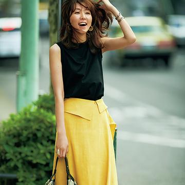 ファッションエディター・磯部安伽さんのエッジの効いたTシャツスタイル2【おしゃれな人は今、Tシャツに何合わせてる?】