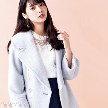 新川優愛が着る★スナイデルのAラインコートが可愛すぎ!