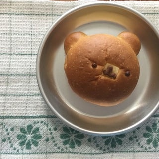 折峰ベーカリーのくまパン