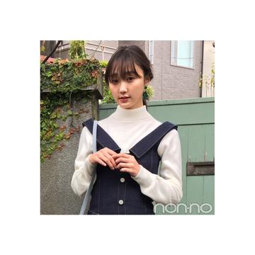 鈴木友菜のデニムは濃いインディゴの主役ワンピ【毎日コーデ】
