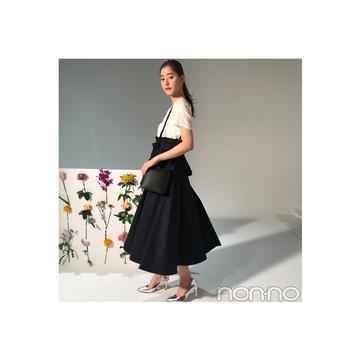 新木優子が着る美シルエットなハイウエストスカート【毎日コーデ】