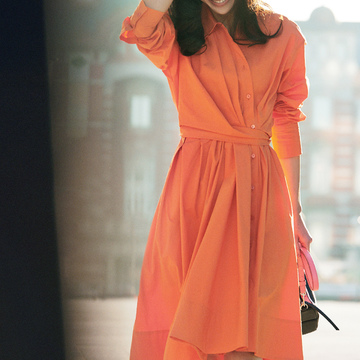 5. 鮮やかな色も、清潔感のあるコットンならクリーンな装いになる