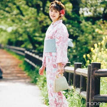 ゆかただって誰より可愛く♡ 鈴木ゆうかが着るピンクのカトレア柄【毎日コーデ】
