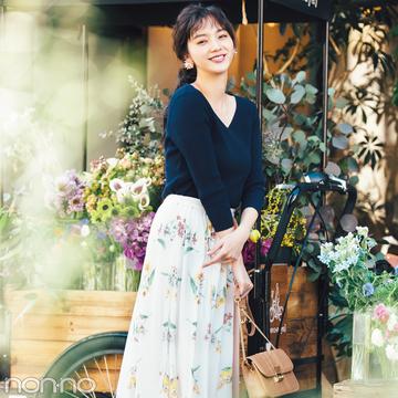 花柄スカート、差をつけるならノエラのスカーフモチーフ♡