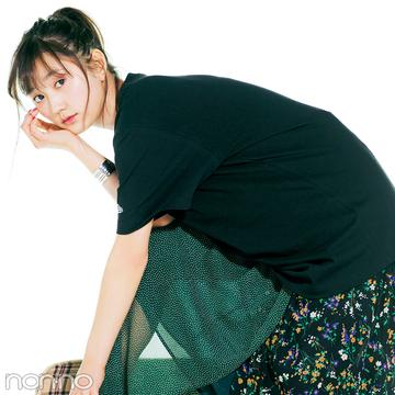 モデルはこう着る!クールめ友菜のビッグTシャツ&甘め菜々花のボーダーTシャツ♡