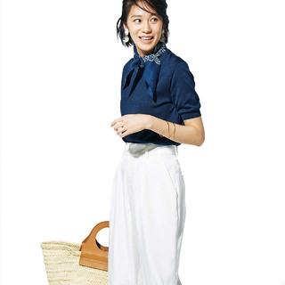 【OFF編】楽ちんなのに女っぽくなる「ゆるてろパンツ」の最旬コーデ