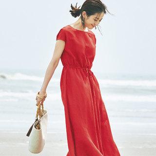 大人の夏に欠かせない。エムセブンデイズの「リネン素材」ワンピース&スカート