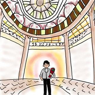 待ち合わせの東京駅で大きなバラの花束を抱えて待っていた【アラフォーケビ子の婚活記 #39】