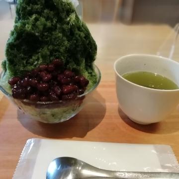 真夏日、抹茶かき氷を食べに《すすむ屋茶店》へ