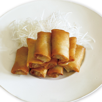 <有元葉子さん・神レシピ1>牡蠣の春巻きと白髪ねぎ