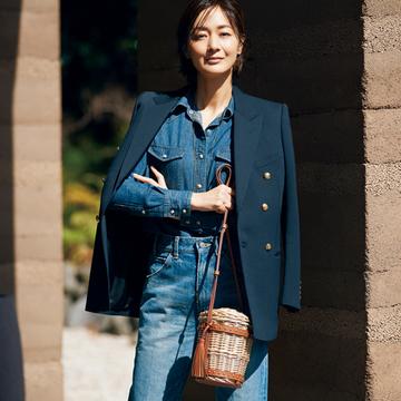 【富岡佳子のリュクスなかごバッグ】ショルダーのかごバッグでエレガントに