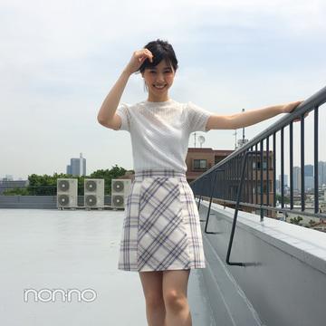西野七瀬はチェックミニ&スニーカーで可愛げアクティブ☆【毎日コーデ】