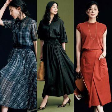 【50代 着映えセットアップ】上品で華やかな『スカート』タイプで女性らしい装い