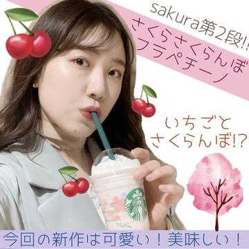 【スタバ】2/26発売!!sakura第2弾はさくらんぼ///